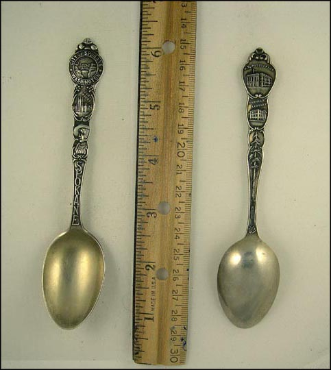 City Seal, Court House, US Post Office, Carnegie Library , Spokane, Washington Souvenir Spoon