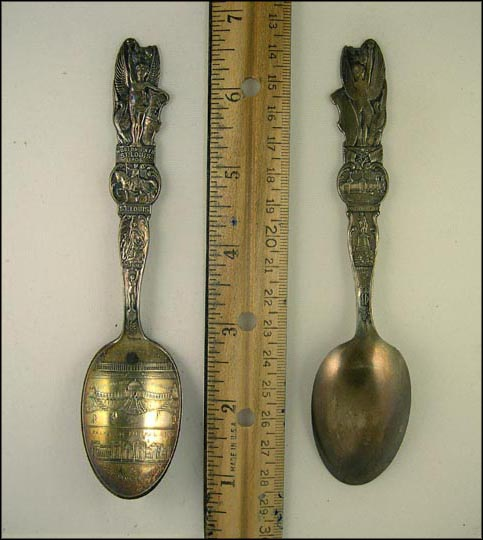 World's Fair 1904,City Seal, Music, US Government Building... Souvenir Spoon MAIN