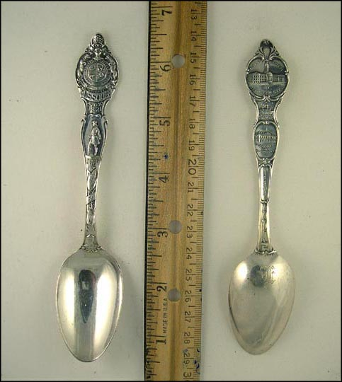 Missouri State Seal, Pierre La Clede, Old Fort St. Louis... Souvenir Spoon