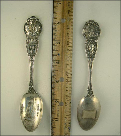 Eads Bridge, Napoleon, Jefferson, Washington, State Captial, St. Louis, Missouri Souvenir Spoon MAIN