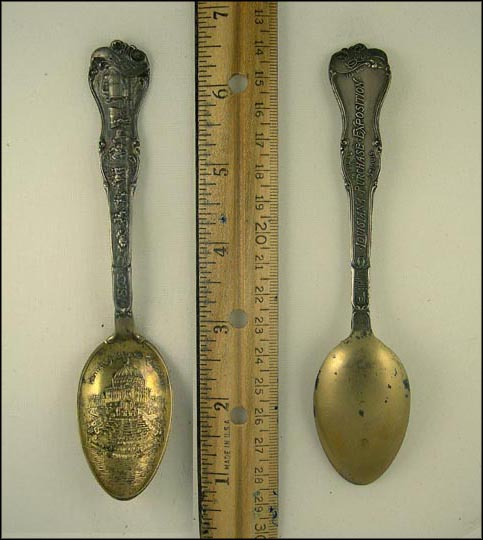 Official Louisiana Purchase Exposition 1904, Festival Hall and Cascades... Souvenir Spoon