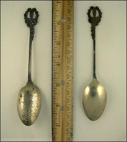 Cut Out Handle, Excelsior Springs, Missouri Souvenir Spoon