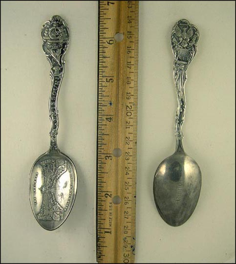 The Cascades World's Fair 1904, State Seal, St. Louis, Missouri Souvenir Spoon