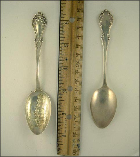 World's Fair Transportation Building 1904, St. Louis, Missouri Souvenir Spoon MAIN