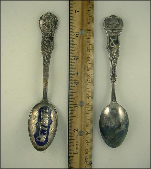 Enameled, State Seal, State Capitol, Detroit, Michigan Souvenir Spoon