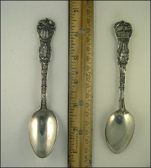 City Seal, Founded 1701 By Cadillac, Chief Pontiac, Water Tower... Souvenir Spoon
