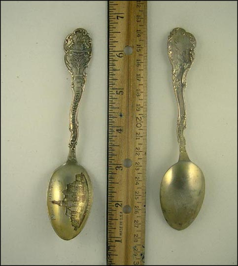 Post Office, State Seal, Detroit, Michigan Souvenir Spoon