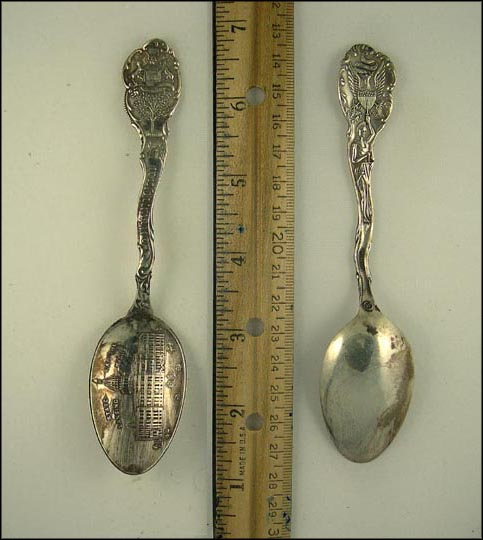 State Capitol, State Seal, Lansing, Michigan Souvenir Spoon