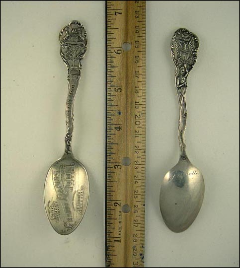 Elks Temple, Library, Federal Building, State Seal, Grand Rapids, Michigan Souvenir Spoon