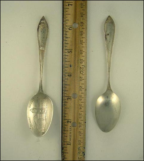 High School, Owosso, Michigan Souvenir Spoon