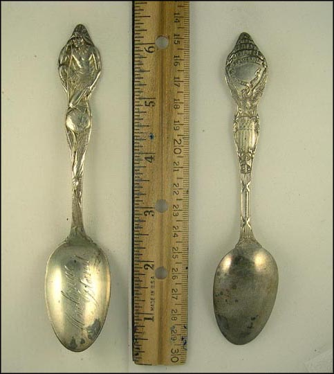 Corn, Globe, Native American, Mackinac Island, Michigan Souvenir Spoon
