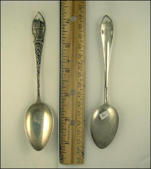 Cut Out Old Block House, Mackinac Island, Michigan Souvenir Spoon