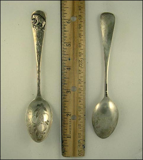Oranges, Bear, Orange, California Souvenir Spoon