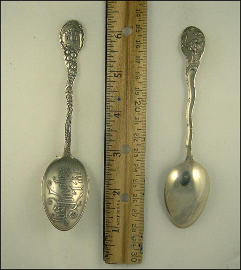 San Gabriel Mission, Ostrich, Los Angeles, California Souvenir Spoon