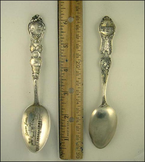 Casino, Santa Barbara Mission, State Seal Souvenir Spoon