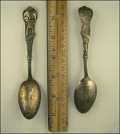 Golden Gate, Grapes, Bear, State Seal... Souvenir Spoon