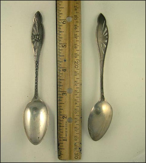 Cut Out of the Golden Gate, San Francisco, California Souvenir Spoon
