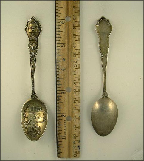 San Gabriel Mission, Court House, A.A.O.N.M.S.... Souvenir Spoon