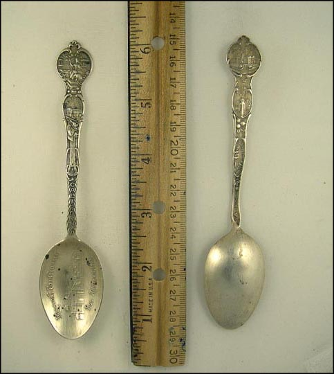 Mission, Founded 1814, Wawona, State Capitol, State Seal... Souvenir Spoon MAIN
