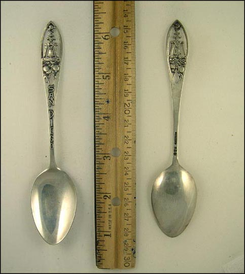 Cut Out Bell and Oranges, San Diego, California Souvenir Spoon
