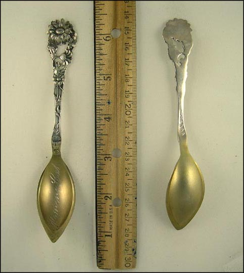 Cut Out Flower Handle, Pomona, California Souvenir Spoon