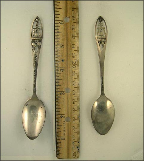 Cut Out Bell and Oranges, Long Beach, California Souvenir Spoon MAIN