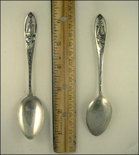 Mission Inn, Cut Out Bell and Oranges, Riverside, California Souvenir Spoon
