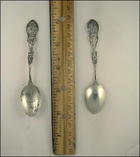 San Gabriel Mission 1771 California, Grapes, Miner, State Seal, Los Angeles, California Souvenir Spoon