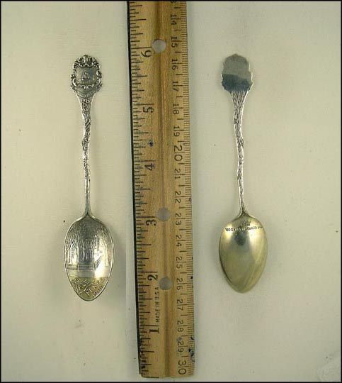1701 Yale Fence 1888, City of the Elms 1638, Ship Souvenir Spoon