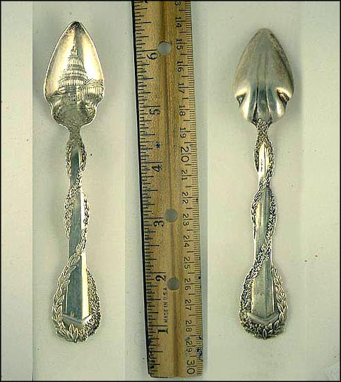 The Capitol, Washington Monument, Washington, District of Columbia Souvenir Spoon MAIN