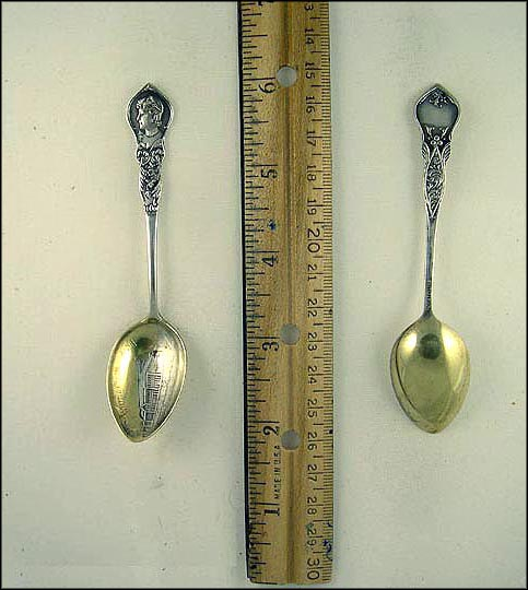 Woman's Building, Queen Isabella (Columbian Exposition) Souvenir Spoon MAIN