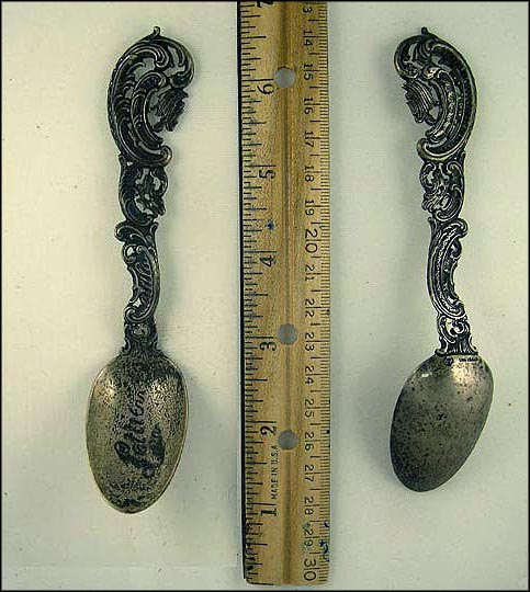 Swirl Pattern Handle Souvenir Spoon MAIN