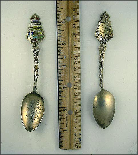Enameled Crest Souvenir Spoon