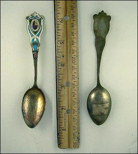Enameled Crest, Lady Evelyn Souvenir Spoon