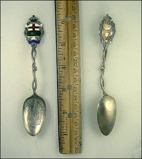 Enameled Crest, City Hall Souvenir Spoon MAIN