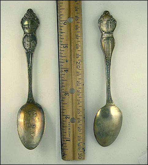 University, St. James Cathedral, City Hall, Yonce Street Dock, Armouries, Traders Bank Souvenir Spoon