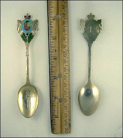 Enameled Crest, Metropolitan Methodist Church Souvenir Spoon