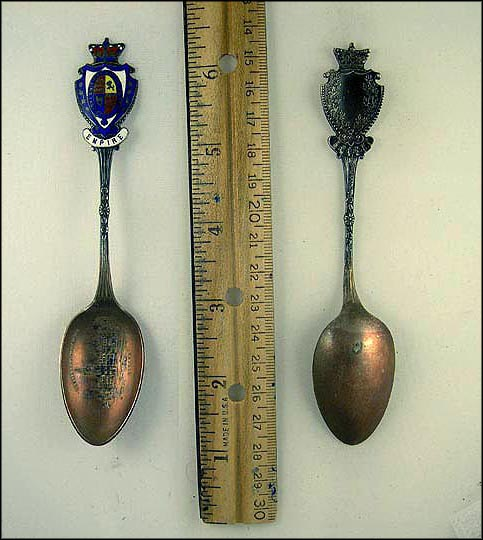 Enameled Crest, Parliament Buildings Souvenir Spoon