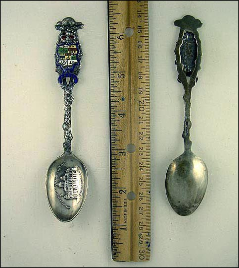 Cut Out, Enameled Crest, Parliament Buildings Souvenir Spoon