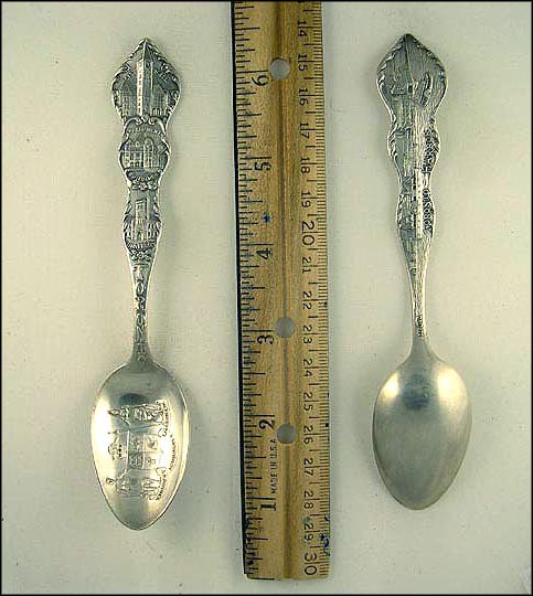 Crest, University, Parliament Buildings, City Hall, Harbor Souvenir Spoon MAIN
