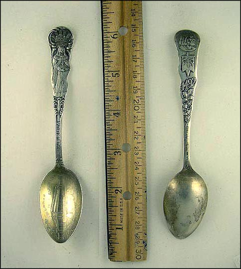 World's Columbian Exposition 1893, Manufacturers and Liberal Arts, Isabella, Royalty Souvenir Spoon