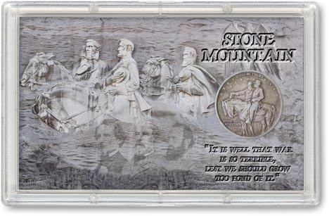 Stone Mountain Commemorative Half Dollar Display LARGE