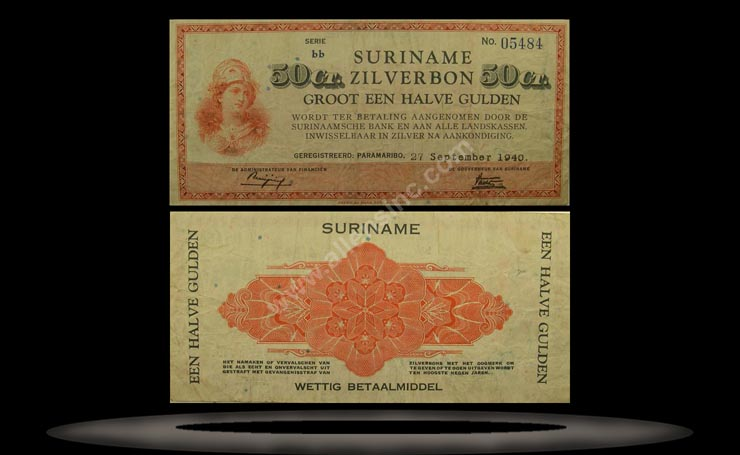 Suriname Banknote, 50 Cent, 30.10.1940, P#104a