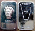 Eleanor Roosevelt' Art Bar by American Silver Editions.
