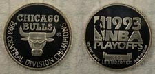 Chicago Bulls - 1993 Central Division Champions' Art Bar.