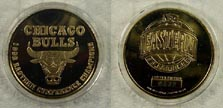 Chicago Bulls - 1998 Eastern Conference Champions - gold plated' Art Bar.