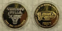Chicago Bulls - 1998 NBA Champions - gold plated' Art Bar.