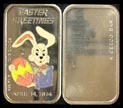 Happy Easter 1974 - enameled' Art Bar by Ceeco Mint. THUMBNAIL