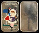 Valentine's Day 1975 - enameled' Art Bar by Ceeco Mint. THUMBNAIL