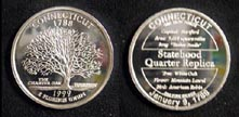 Connecticut Quarter Replica' Art Bar.